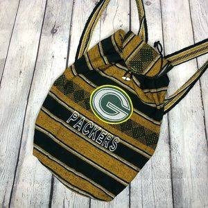 Green Bay Packers Woven Backpack Bag